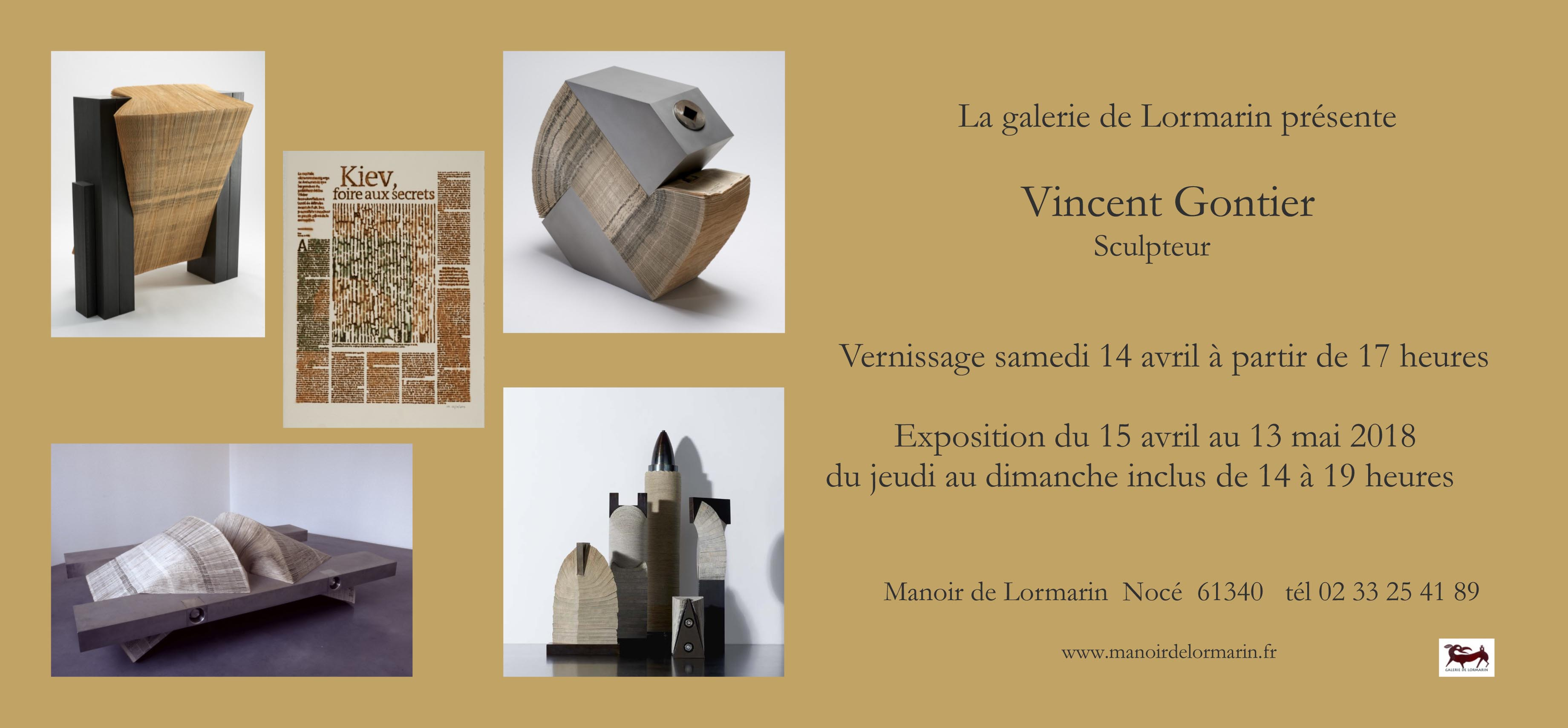invitation expo avril 18 Vince Gontier