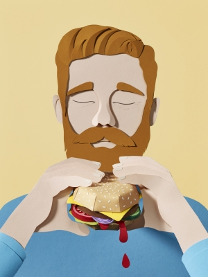 WRK_Graphicdesign_Tactile_Illustration_Burgerista_Burg